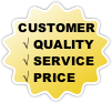 Customer balance: quality, service, price